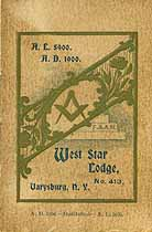 Thumbnail image of West Star Lodge, No. 413, Members for 1900 cover