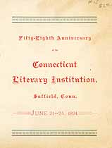 Thumbnail image of Connecticut Literary Institution 58th Anniversary cover