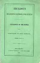 Thumbnail image of Ercildoun Boarding School 1859 Catalogue cover