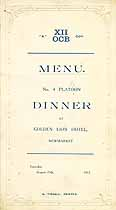 Thumbnail image of No. 4 Platoon Dinner Menu 1917 cover