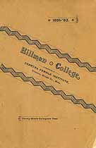 Thumbnail image of Hillman College 1891 Catalogue cover