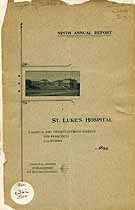 Thumbnail image of St. Luke's Hospital 9th Annual Report cover