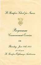 Thumbnail image of St. Boniface School for Nurses 1924 Commencement cover