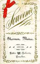 Thumbnail image of Sherman School 1902 Souvenir cover