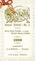 Thumbnail image of School District No. 3 Souvenir for 1898 cover