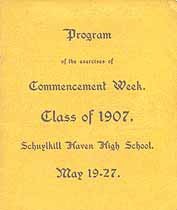 Thumbnail image of Schuylkill Haven High School 1907 Commencement cover