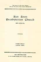 Thumbnail image of Ben Avon Presb. Church Weekly Bulletin Oct 1, 1922 cover