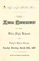Thumbnail image of Albia High School 1887 Commencement cover