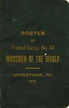 Thumbnail image of Vestal Camp, No. 33 W.O.W. 1909 Roster cover