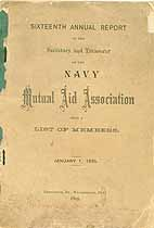 Thumbnail image of Navy Mutual Aid Assoc. 1885 Report cover