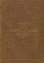 Thumbnail image of Orange First Presbyterian Church 1869 Manual cover