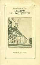 Thumbnail image of Mendham Hill Top Cemetery 1926 Directory cover