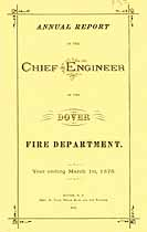Thumbnail image of Dover Fire Department 1875 Annual Report cover