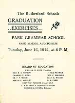 Thumbnail image of Park Grammar School 1914 Graduation Exercises cover