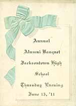 Thumbnail image of Jacksontown High 1911 Alumni Banquet cover