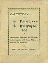 Thumbnail image of Peterboro, N.H. Directory 1903 cover