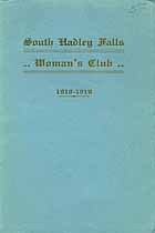 Thumbnail image of South Hadley Falls Woman's Club 1918-1919 cover