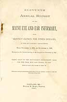 Thumbnail image of Maine Eye and Ear Infirmary 1897 Report cover