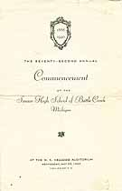 Thumbnail image of Battle Creek High School 1940 Commencement cover