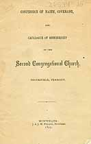 Thumbnail image of Brookfield Second Congregational Church 1877 Catalogue cover