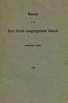Thumbnail image of First Parish Congregational Church 1909 Manual cover