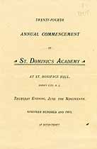 Thumbnail image of St. Dominic's Academy 1902 Commencement cover