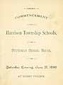 Thumbnail image of Harrison Township Schools 1890 Commencement cover