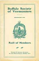 Thumbnail image of Buffalo Society of Vermonters 1900-1 Members cover