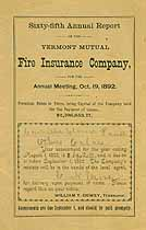 Thumbnail image of Vermont Mutual Fire Ins. 65th Annual Report cover