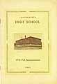 Thumbnail image of Leavenworth High School 1910 Fall Announcement cover