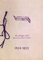 Thumbnail image of The Chopin Club 1924-1925 Member List cover