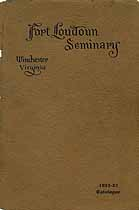 Thumbnail image of Fort Loudoun Seminary 1922-23 Catalogue cover