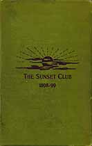 Thumbnail image of The Sunset Club 1899 List of Members cover