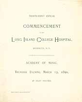 Thumbnail image of Long Island College Hospital 1890 Commencement cover