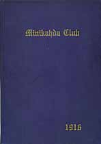 Thumbnail image of Minikahda Club 1916 Year Book cover