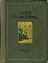 Thumbnail image of New York Military Academy 1921-1922 Catalogue cover