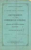 Thumbnail image of Crittenden's Philadelphia Commercial College 1865 Catalogue cover