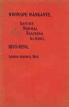 Thumbnail image of Santee Normal Training School 1896 Catalogue (Woonspe Wankantu) cover