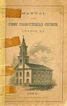 Thumbnail image of Orange First Presbyterian Church 1859 Manual cover