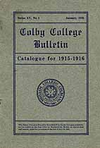Thumbnail image of Colby College Bulletin, Series XV, No. 1 cover