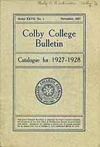 Thumbnail image of Colby College Bulletin, Series XXVII, No. 1 cover