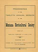Thumbnail image of Montana Horticultural Society 1909 Session cover