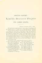 Thumbnail image of Lambda Deuteron Chapter, Phi Gamma Delta, 1893 Report cover
