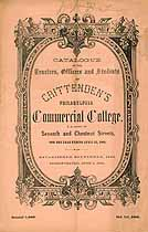 Thumbnail image of Crittenden's Philadelphia Commercial College 1860 Catalogue cover