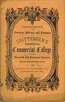 Thumbnail image of Crittenden's Philadelphia Commercial College 1861 Catalogue cover