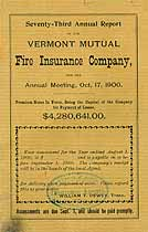 Thumbnail image of Vermont Mutual Fire Ins. 73rd Annual Report cover