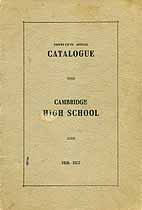 Thumbnail image of Cambridge High School 35th Annual Catalogue cover