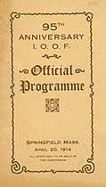 Thumbnail image of I.O.O.F. 95th Anniversary Official Programme cover