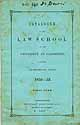 Thumbnail image of Univ. of Cambridge Law School 1852-53 Catalogue cover