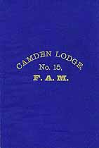 Thumbnail image of Camden Lodge, No. 15, F.A.M. 1879 Members cover